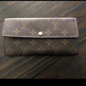 Louis Vuitton long classic monogram wallet
